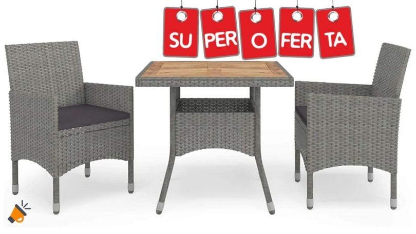 oferta Conjunto muebles de jardi%CC%81n Ksodgun barato SuperChollos