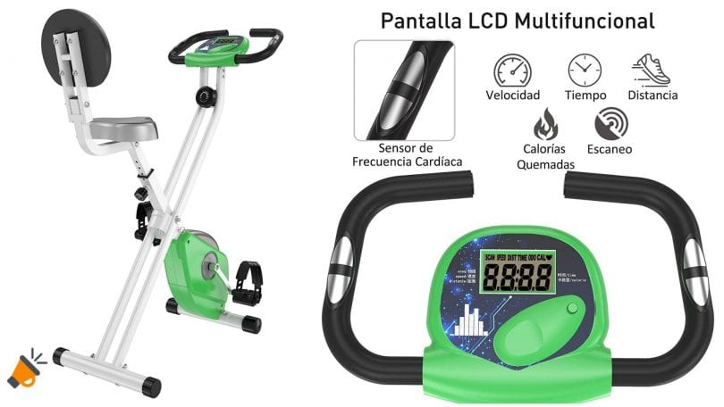 oferta Bicicleta esta%CC%81tica HomCom barata SuperChollos
