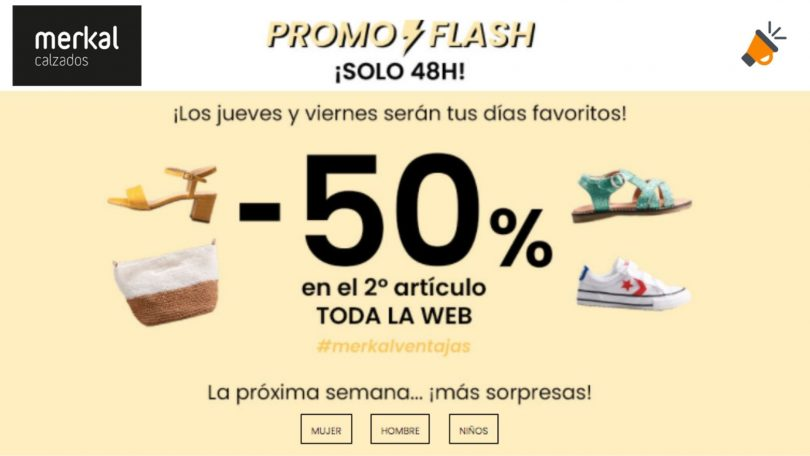 ofertas flash merkal calzados SuperChollos