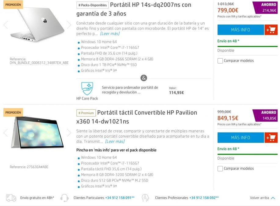 Ofertas destacadas HP Store3 SuperChollos