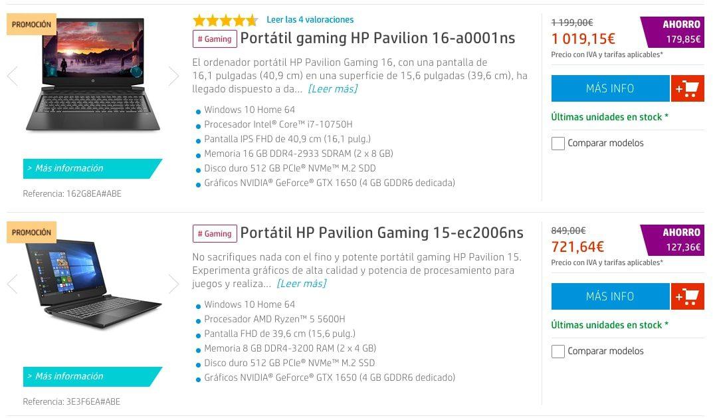 Ofertas destacadas HP Store2 SuperChollos