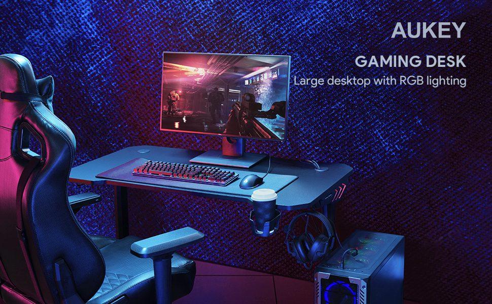 mesa gaming aukey SuperChollos