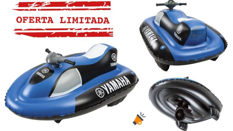 oferta Moto hinchable Yamaha barata SuperChollos