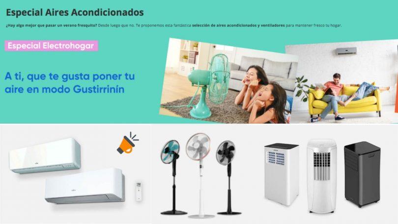 ofertas aires acondicionados pccomponentes SuperChollos