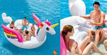 oferta Unicornio Hinchable Gigante barato SuperChollos
