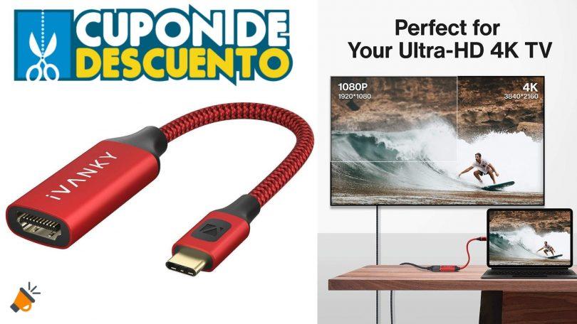 oferta IVANKY Adaptador USB C a HDMI barato SuperChollos