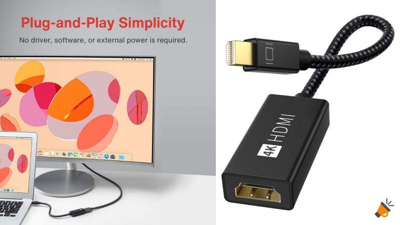 oferta IVANKY Adaptador Mini DisplayPort a HDMI barato SuperChollos