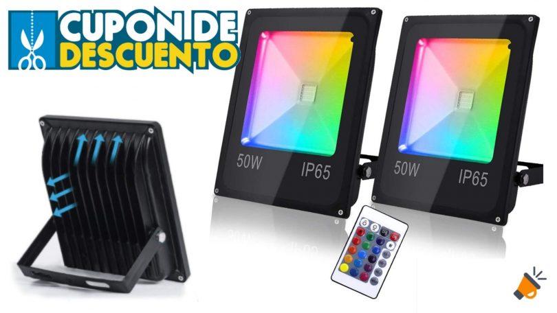 OFERTA Hengda Foco RGB barato SuperChollos
