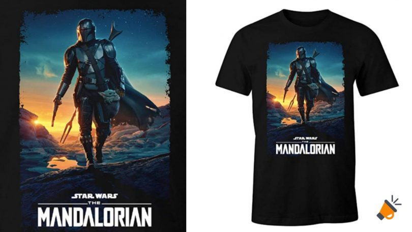 oferta camiseta The Mandalorian barata SuperChollos