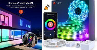 oferta Tiras LED RGB TECKIN Wifi barata SuperChollos