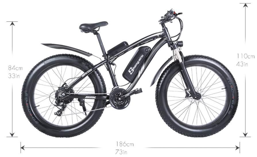 Bicicleta ele%CC%81ctrica Shengmilo 1000W SuperChollos