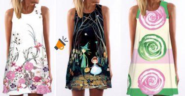 oferta Vestidos cortos coloridos baratos SuperChollos