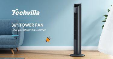 oferta TECHVILLA Ventilador de Torre barato SuperChollos