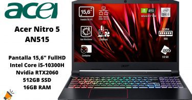 oferta Acer Nitro 5 barato SuperChollos