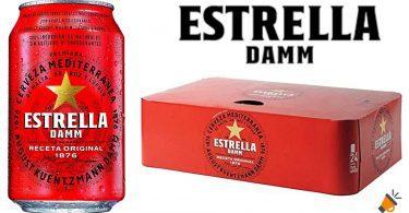 oferta Cerveza Estrella Damm barata SuperChollos