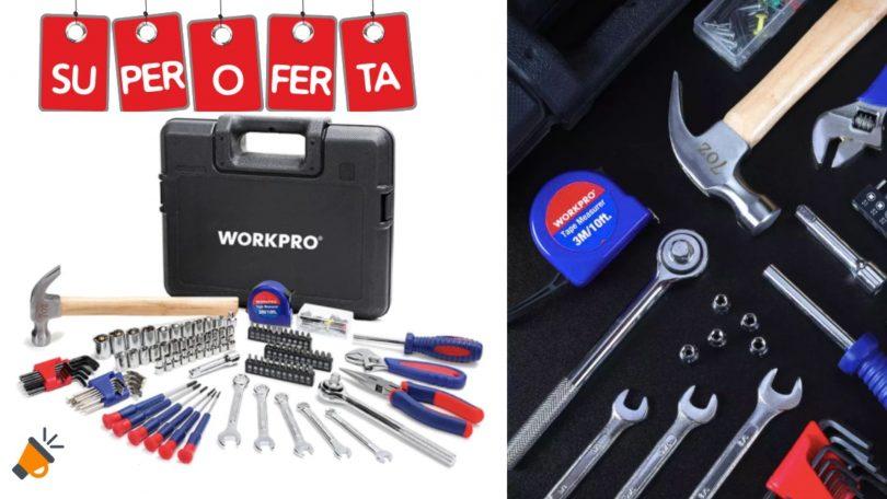 oferta juego herramientas workpro barato SuperChollos
