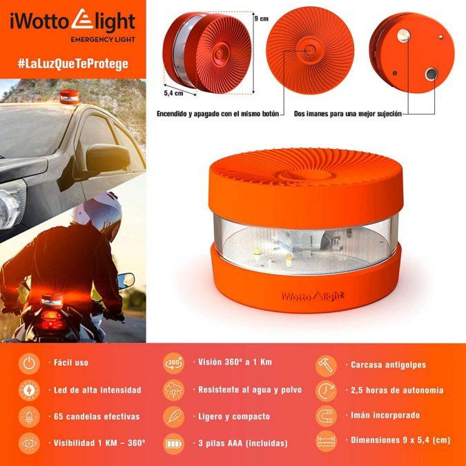 Luz LED emergencia iWotto E light V 16 barata scaled SuperChollos