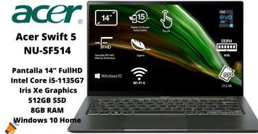 oferta Acer Swift 5 NU SF514 barato SuperChollos