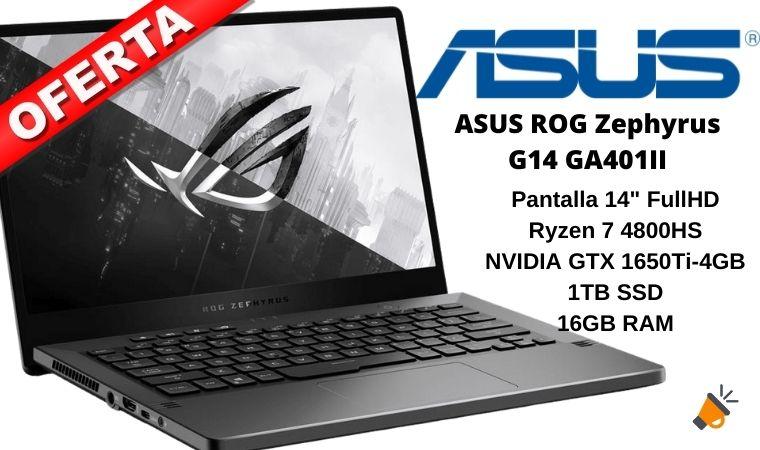 oferta ASUS ROG Zephyrus G14 GA401II barato SuperChollos