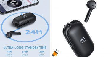 oferta auriculares bluetooth ASFD baratos SuperChollos