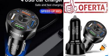 oferta Cargador coche AUFU barato SuperChollos