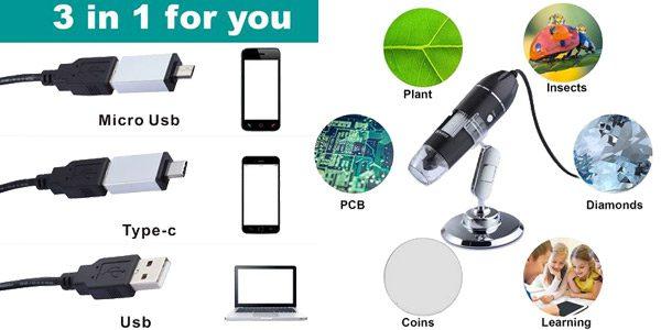 Microscopio electro%CC%81nico Aneng barato SuperChollos