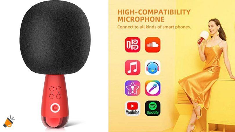 oferta microfono karaoke Calf G2 barato SuperChollos