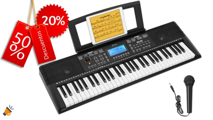 oferta piano electronico donner barato SuperChollos