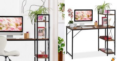oferta escritorio estanteri%CC%81a Relaxdays barata SuperChollos